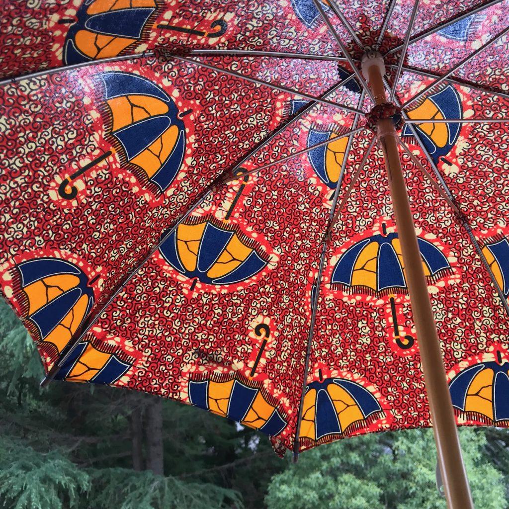 アフリカンプリントの日傘