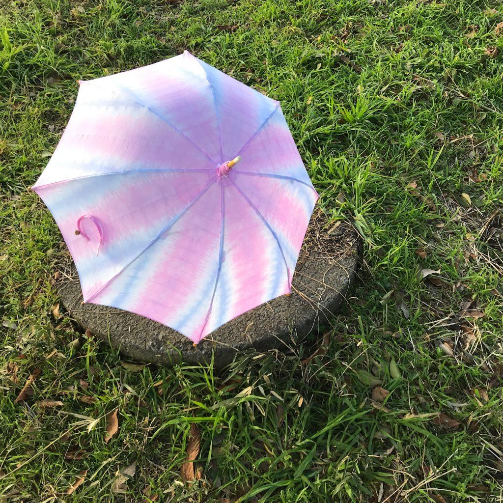 染めの日傘